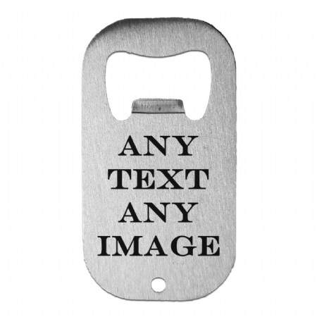 Personalised Any Text / Any Image Stainless Steel Beer Bottle Opener
